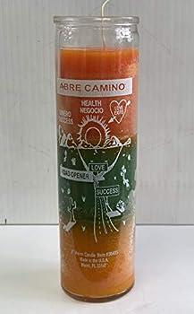 ABRE Camino Vela DE8  EN ENVASE DE Cristal / 8  Open Road Candle Glass JAR