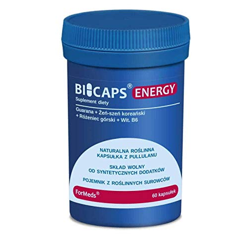 Bicaps Guarana Korean Ginseng Mountain Rosary Vitamin B6 Energy 60 Portion 60 Capsules ForMeds