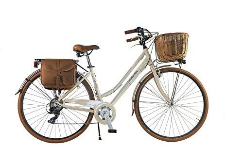 CANELLINI Via Veneto By Bicicletta Bici Citybike .CTB Donna Vintage Retro Dolce Vita Alluminio Panna 46