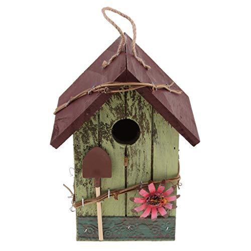 Homyl Retro Vogel Nisthöhle/Vogelhaus für Kleinvögel Rotschwänzchen, super Villa für Kleinsingvög - E#