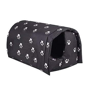 Abri extérieur pour chat Kitty House, maison pour chat hivernée, abri pour chats errants chaud pliable imperméable, cabine de tente de nid de chat épaissie pour chat ou petit chien