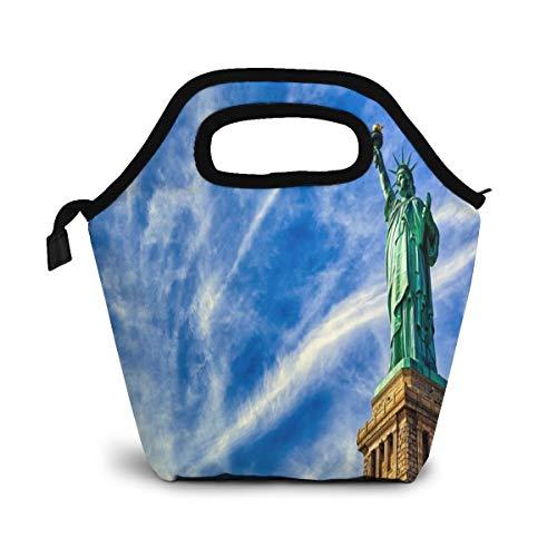 NiWCGP Vrijheidsbeeldje voor desktops en kinderen, kleine koeltas, warme tas, lunchbox voor school en werk, draagbare maaltijd handtassen, levensmiddelenkast, draagtas voor picknick mama