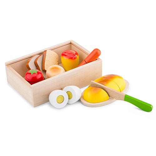 New Classic Toys - 10580 - Kinderrollenspiele - Essen Schneiden Set