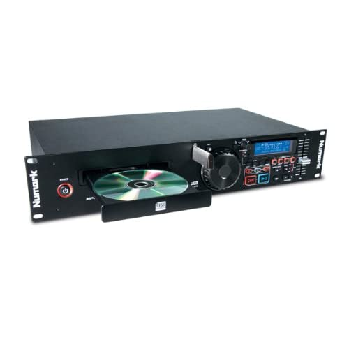 Numark MP103USB - Lettore CD USB a Rack con Controlli Dedicati di Pitch e Master Tempo, Ingressi/Uscite Performance E Compatibilità Con CD & MP3CD