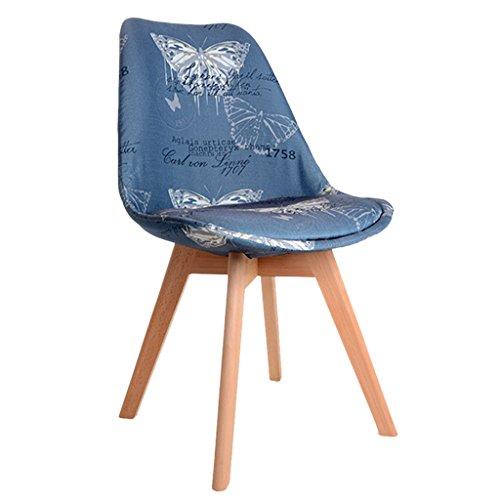 Chaises Chaises de salle à manger en bois massif Chaises de maquillage d'étude occasionnels Chaises de maison adultes simples Chaises en tissu Chaises de café personnalisés Chaises