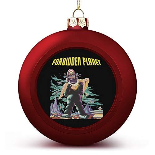 VNFDAS Póster de la película de planeta prohibido, adornos de bola de Navidad bellamente decorados de Navidad gadgets de bola perfecta para colgar de vacaciones, boda fiesta decoración