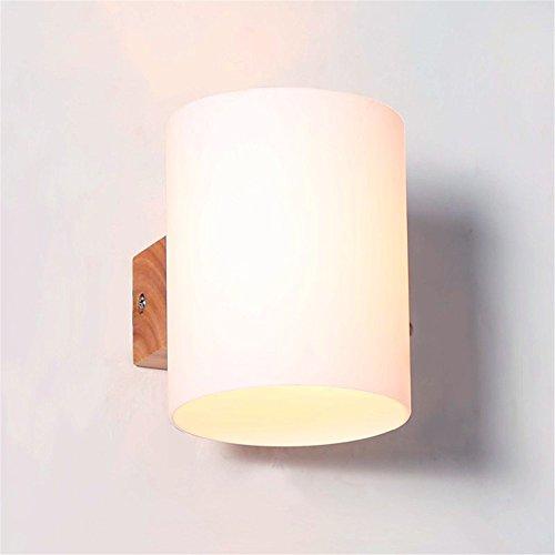 WEXLX Appliques en bois simple Wall Lamp pour Balcon allée diamètre12 cm hauteur13 cm