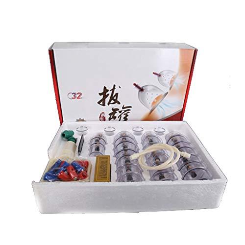 Ventouses 32 ventouses Biomagnétique Thérapie traditionnelle chinoise ventouses Set Ménage Pull Out Kit de ventouses sous vide