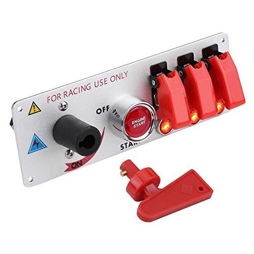 KSTE 12V del Coche de competición del Interruptor de Encendido del Panel LED de Arranque del Motor Empuje del botón del Panel Toggle