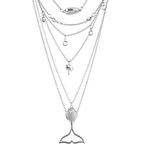 Give Me Five5 Mall Necklace chapado en plata