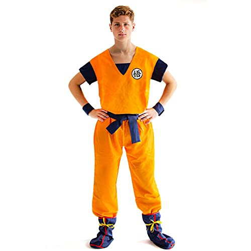 Heldig Men's Dragon Ball Cosplay Training Suit Monkey King Costume (Color : Gray, Size : XX-Large)