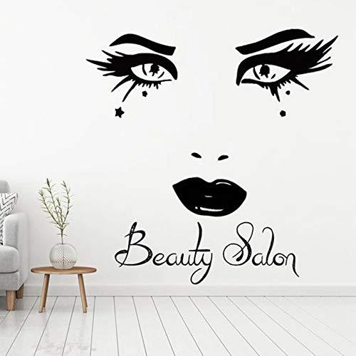 WERWN Barbería Pegatinas de Pared salón de Belleza Arte de la Pared salón de Belleza manicurista decoración Regalos