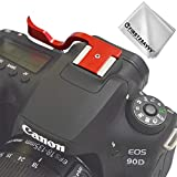 Thumbs Up Grip for Micro DSLR Camera Canon EOS 90D (Rojo)