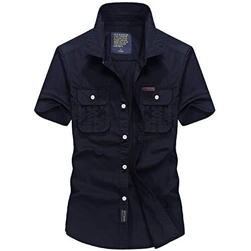 Camisas de Manga Corta para Hombre Verano Nuevas Camisas de Manga Corta Ropa de Trabajo Camisas de Media Manga 4XL