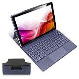 Tableta de 10 Pulgadas con Teclado, Tableta WiFi 5G, Tableta Android 10 Octa-Core, 4GB RAM, 64GB de Almacenamiento, 1920 * 1200 Full HD incell, Tableta con Soporte Incorporado, Altavoces duales