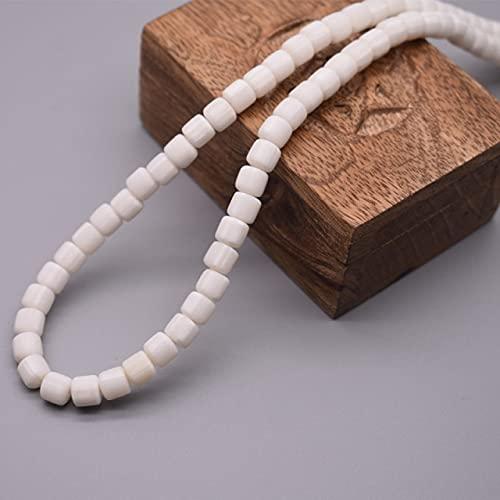 GIAMA 6mm 60pcs / Lote Color Barril Polímero Clay Beads Tube Spacer Beads para joyería Hacienda DIY Pulsera Hecha a Mano Accesorio