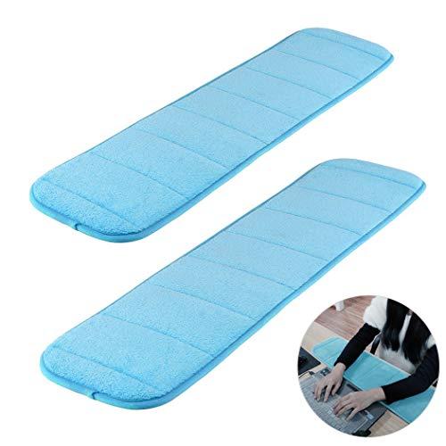 Creatiees 2 Stück Handballenauflage ergonomisch zur Entlastung des Handgelenks Pad, Verbessert Computer Handgelenk Ellbogen Pad für Tastatur und Maus - Entlastung des Handgelenks Pad(Blau)