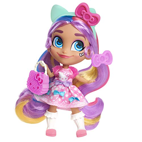 NS Girls Kids (1) Hello Kitty Hairdorables Limited Edition Doll (1) Hairdorables Collectible Pet (1) (1) Hello Kitty Jumbo Coloring and Activity Book- Holiday Birthday Bundle