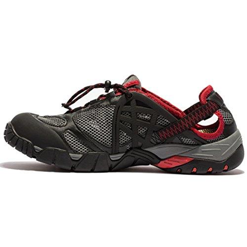 KENSBUY Women& Men's Water Shoes,Running,Beach Aqua,Fishing Leisure Sneakers (43 EU (9.5 D(M) US Men), Red)