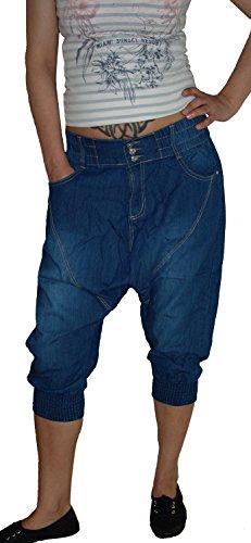 b.s Damen Capri Aladin Sarouel Jeans Hose, Blue Used S-874, Gr.40 (Hersteller L)