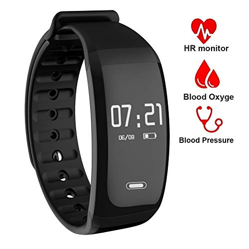 VSDG Fitness Tracker/Smart Bracelet, Smart Watch Waterproof Pedometer Activity Tracker with Sleep Monitor, Heart Rate Monitor, Blood Pressure/Oxygen Monitor Bluetooth 4.0 for iOS & Android Phones