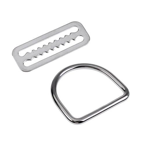 MagiDeal Edelstahl D Ring + Bleigürtel Schnalle zum Tauchen