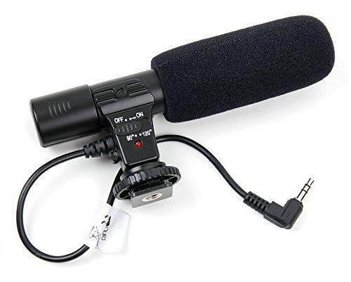DURAGADGET Micrófono estéreo para cámara Canon EOS 760D, Canon EOS 77D, Canon EOS 7D Mark II