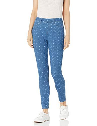 Amazon Essentials Skinny Stretch Pull-on Knit Jegging Pantaloni, Punto Indaco Leggero, M