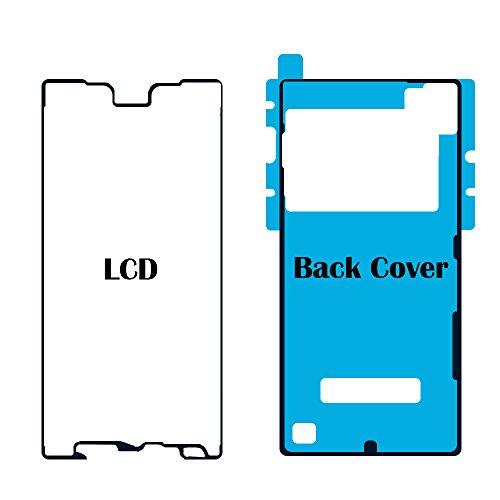 MMOBIEL Set de 2 Adhesivos Pegatina Compatible con Sony Xperia Z5 para Pantalla Delantera y Tapa Trasera de la Bateria