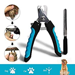 DAOXU claw scissors, dog cat claw pliers with protective device, perfect paw scissors for small, medium & large dogs and cats (blue)