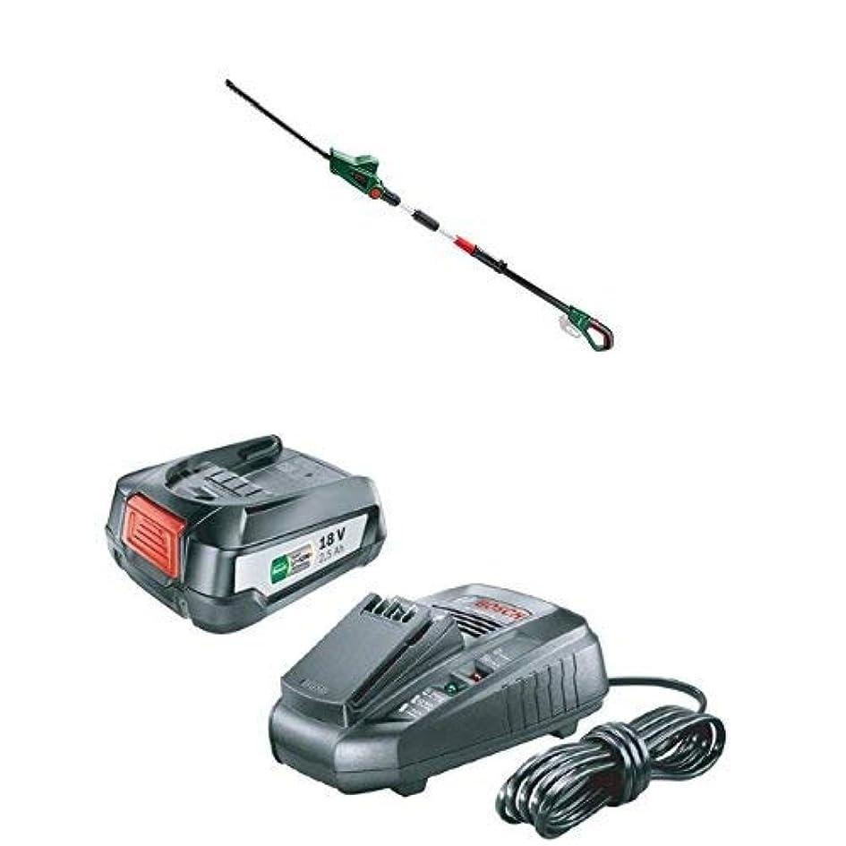 スタイルドラマピンクボッシュ(BOSCH) 18Vコードレスポールヘッジトリマー UHP18H 充電器&バッテリーセット