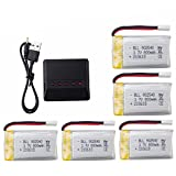 5pcs 3.7v 800mAh Lithium Battery with 5-in-1 Charger for Syma X5C X5C-1 X5 X5SC X5SW H5C V931 S5C S5W SS40 FQ36 T32 T5W H42 CW4 UAV 2.4G RC Quadcopter Spare Battery