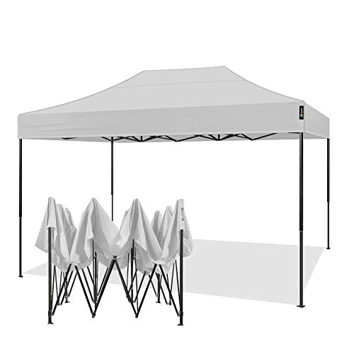 AMERICAN PHOENIX Canopy Tent 10x15 Outdoor Pop Up Easy Portable Instant Wedding Party Tent Event Commercial Fair Car Shelter Canopy (White, 10x15)