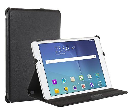 StilGut UltraSlim Hülle, Tasche mit Stand- & Präsentationsfunktion passend für Samsung Galaxy Tab A, schwarz