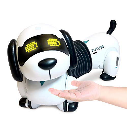 Rc dreamer Remote Control Robot Dog Toys Programmable Walk Bark Follow Robotic Puppy Gesture Sensing Electronic Pets with LED Eyes Gift for Boys Girls 3, 4, 5, 6 Year Old