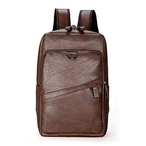Ksde Men Leren rugzak Grote laptop rugzak mannen casual schooltas voor tieners jongens