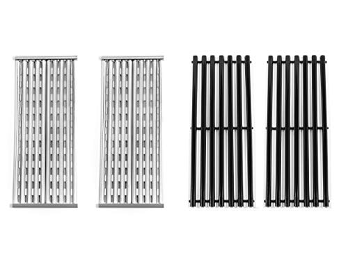 Replace parts 2 Pack Stainless Steel and Porcelain Steel Cooking Grid Replacement for Charbroil 463273614, 466241013,466246910, 466247110 Gas Grill Models