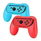 Hand Grips para Nintendo Switch Joy-Con Alomia, Nuevas fundas para Joy Con. Empuñaduras para mandos Joy-con, Diseño ergonómico. Juego de manijas para controles, Colores Azul y Rojo.