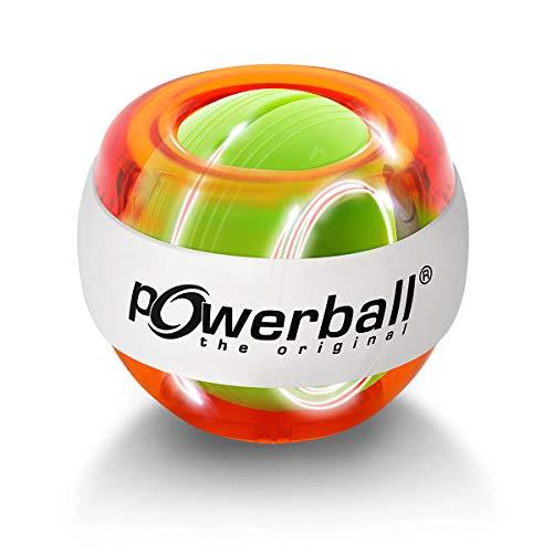 Powerball Lightning Red, gyroskopischer Handtrainer mit rotem Lichteffekt, transparent-rot, das Original von Kernpower