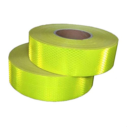 Adecuado for 5 cm de ancho fluorescente amarillo reflectante etiquetas engomadas...