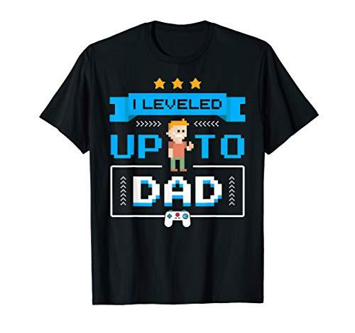 Vati Schwangerschaft Gamer Geschenke Lustiges Werdende Vater T-Shirt