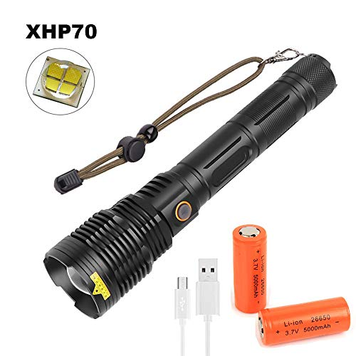XHP70 Linterna LED Recargable USB...