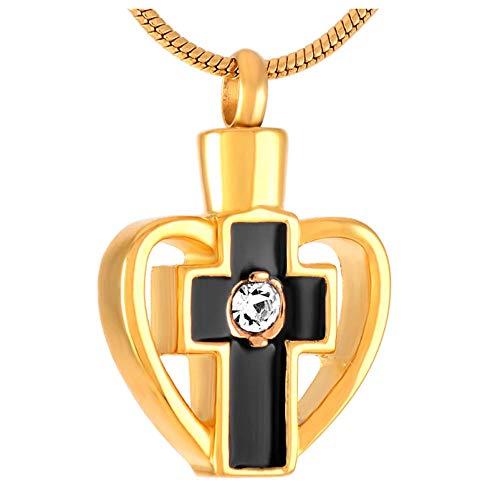 Wxcvz Colgante Conmemorativo Acero Inoxidable Finamente Procesado 'Faith of Heart' Joyería De Cremación Colgantes Collares Mujer Hombre