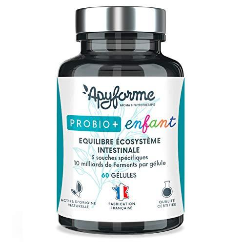 Apyforme - Probio+ bambini - Probiotici per bambini - 3 fermenti lattici: Bifidobacterium infantis, Lactobacillus rhamnosus, Lactobacillus Acidophyllus - 60 capsule - Cure 60 giorni - Made in France