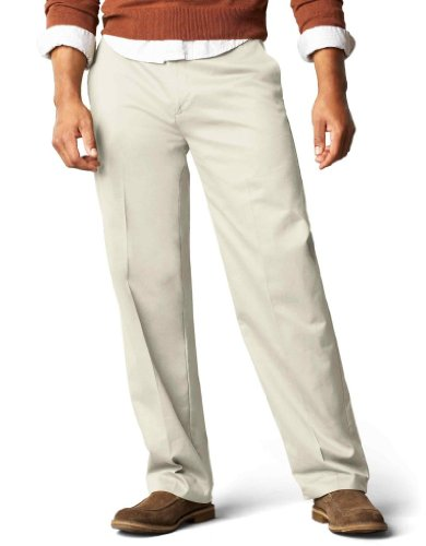 powerful Dockers Signature Khaki D3 Flat Pants, Regular Fit