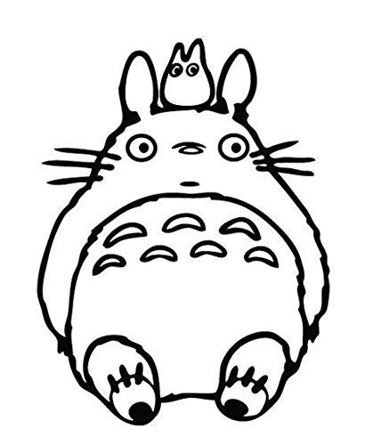 Aufkleber Totoro Ghibli Laputa sitzend, Fensterssticker, schwarzer Aufkleber, JDM Anime, Laptop, Glas, Autofenster, Nr. 5