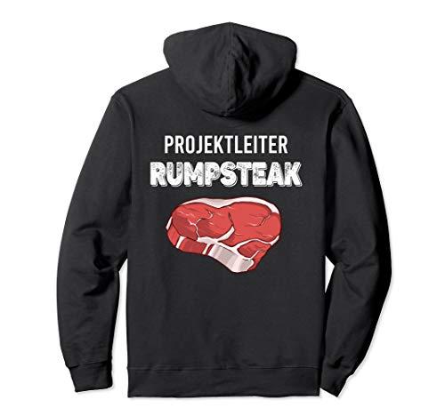 Projektleiter Rumpsteak Steak Grillen Spruch BBQ Geschenk Pullover Hoodie
