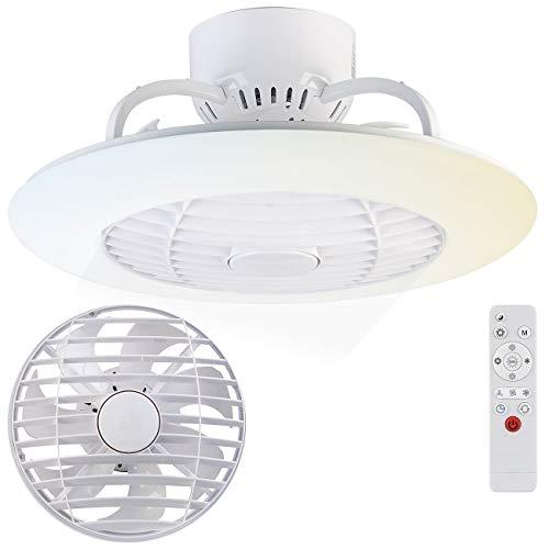 Sichler Haushaltsgeräte Deckenventilator: 2in1-Deckenleuchte & Ventilator mit Fernbedienung, Variable Lichtfarbe (Deckenlampe mit Ventilator)