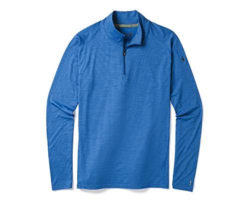 Smartwool Men's ¼ Zip Pullover - Merino 150 Wool Sweater Bright Cobalt Small