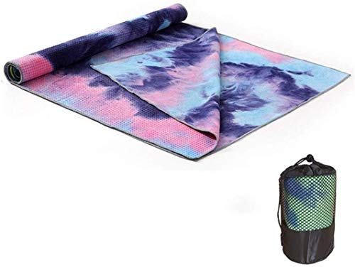 BBZZ Esterillas de yoga para el hogar espesar ensanchar antideslizante absorción de sudor yoga impresión toalla fitness yoga manta